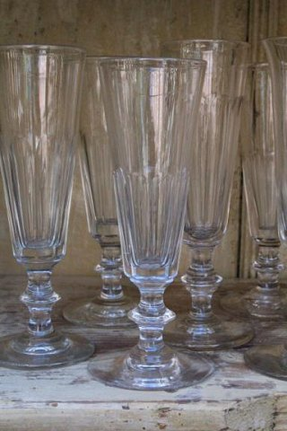 Gamle franske vinglas