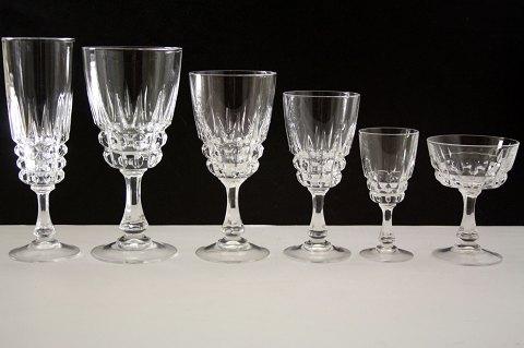krystalglas .Antikvitet.  Pompadour Krystalglas, * Cristal d'Arque. krystalglas