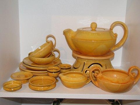 www.Antikvitet.net - Kähler keramik * * Urangult stel