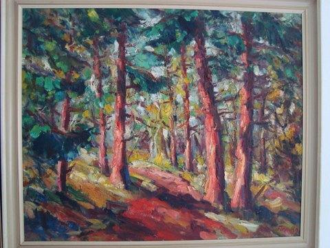 malerier af skovparti