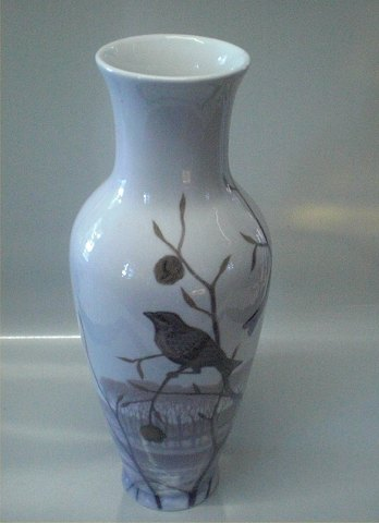 Antikvitet Fuglevase Kongelig Dansk Vase 1950 12 Dekoreret