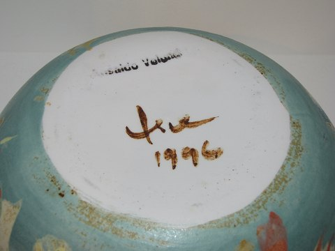 tue keramik .Antikvitet.  Tue Poulsen keramik * * Flot stor skål med  tue keramik