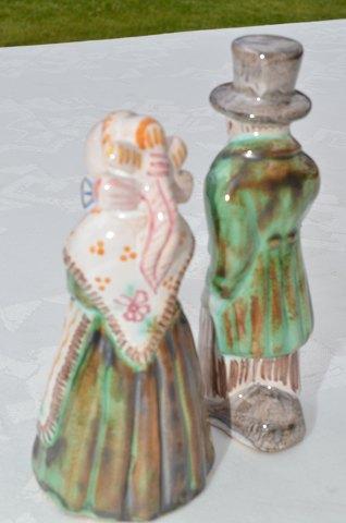 hjorth keramik figurer .Antikvitet.  Hjorth keramik Figurer i egnsdragter hjorth keramik figurer