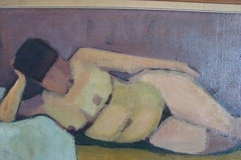 nøgen maleri model