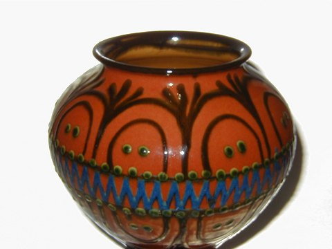 www.Antikvitet.net - Stor Kähler Keramik Vase * * Solgt