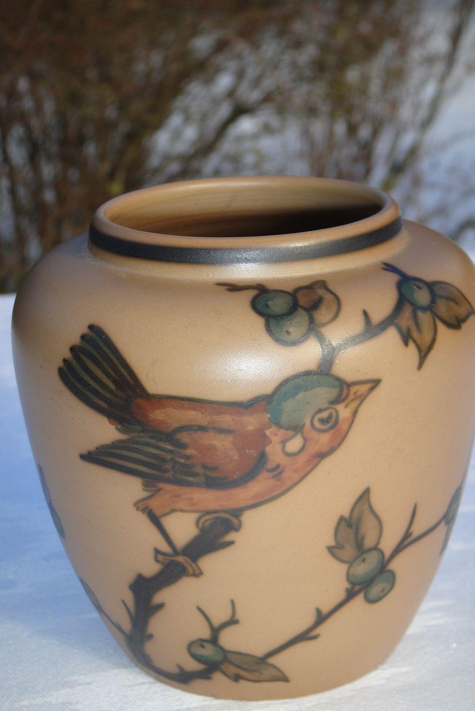 keramik l hjorth .Antikvitet.  L. Hjorth keramik Lille vase keramik l hjorth