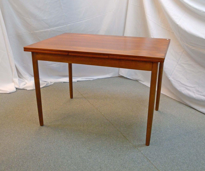 www.Antikvitet.net - Spisebord i teak med udtræk