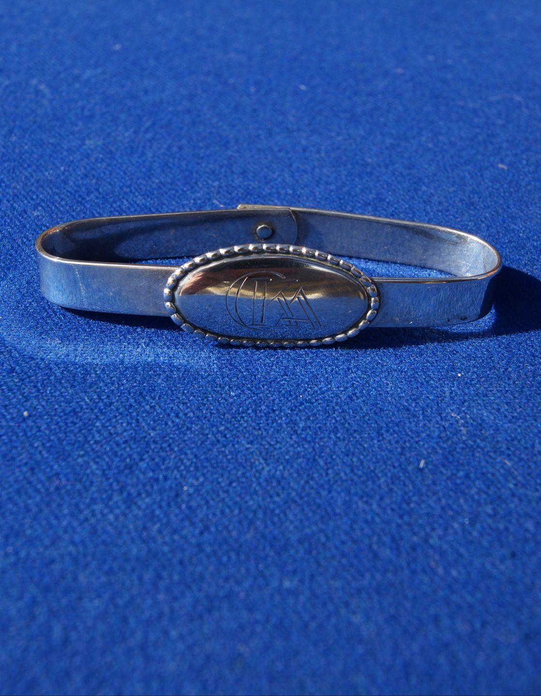 www.Antikvitet.net - Servietring i sølv 830S med indgravering