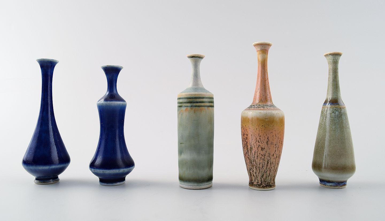 keramik vaser .Antikvitet.  Samling Höganäs miniature keramikvaser, i alt  keramik vaser
