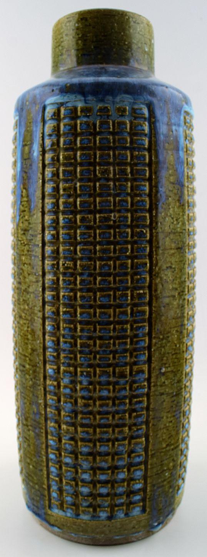 keramik gulvvase .Antikvitet.  Stor keramik gulvvase fra Palshus af Per  keramik gulvvase