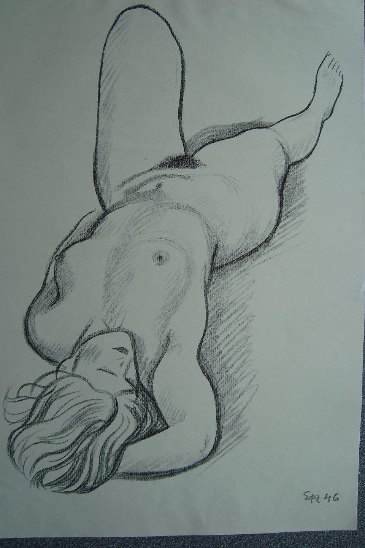 nøgen kvinde tegning