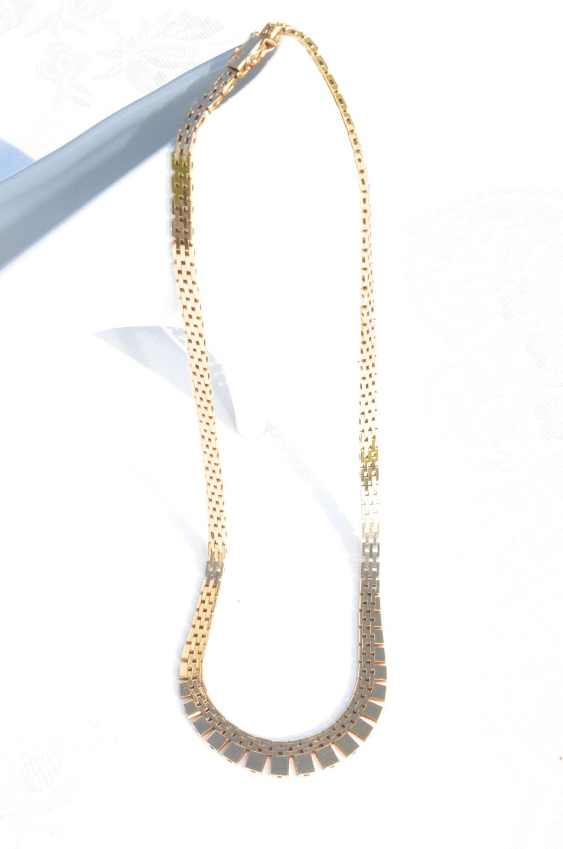 68a7aff56cd0 www.Antikvitet.net - Murstens-halskæde 14 kt guld