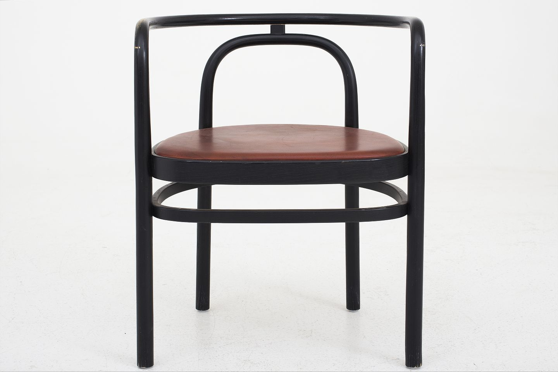 poul kj rholm pp m bler pk 15 sortlakeret armstol i ask og r dt l der 1. Black Bedroom Furniture Sets. Home Design Ideas