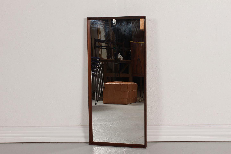 Oprindeligt www.Antikvitet.net - Danish Modern * * Aflangt spejl * af træ * HY34