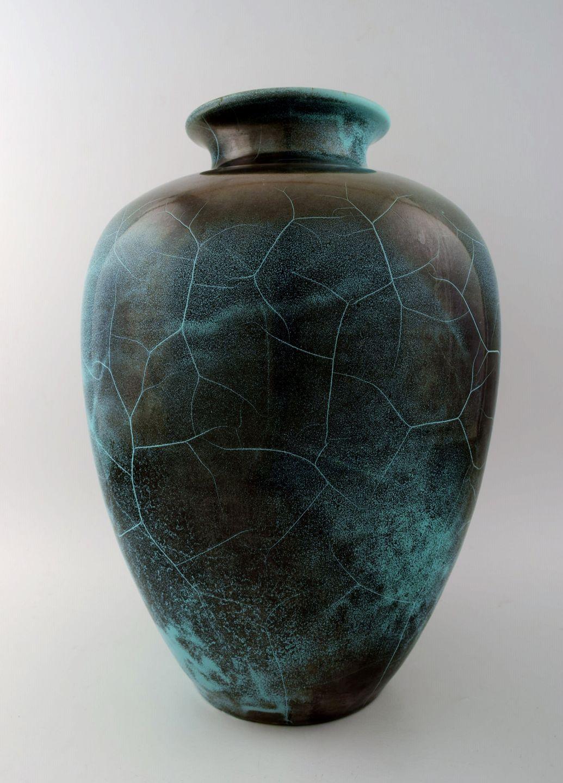 gulvvase .Antikvitet.  Richard Uhlemeyer, tysk keramiker. * Stor  gulvvase