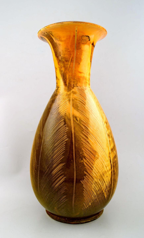 kähler gulvvase .Antikvitet.  Stor Kähler, HAK, Svend Hammershøi, glaseret  kähler gulvvase