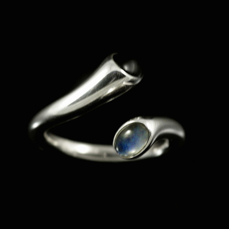 george jensen ring sort og sølv