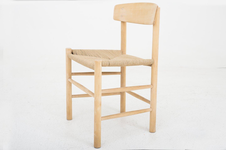b rge mogensen fdb j 39 nyrestaureret folkestol i b g og papirgarn 20. Black Bedroom Furniture Sets. Home Design Ideas