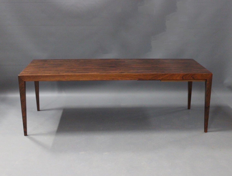 www.Antikvitet.net - Aflangt sofabord i palisander med udtræk ...