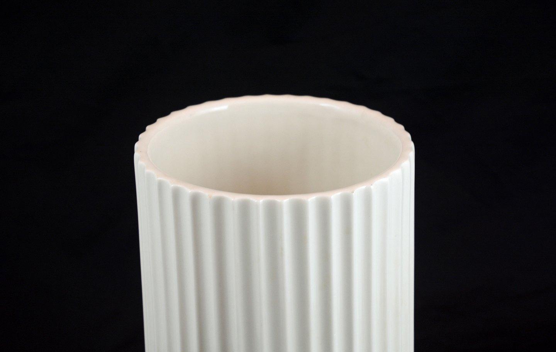 www.Antikvitet.net - Hvid Lyngby vase