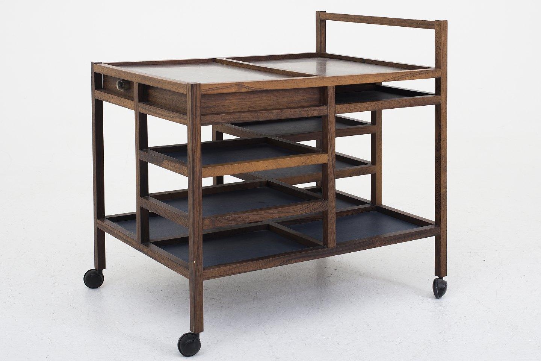 bodil kj r e pedersen severingsvogn i palisander m varmeplader i st l. Black Bedroom Furniture Sets. Home Design Ideas