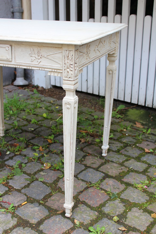 www.Antikvitet.net - Fint gammelt Fransk bord med lille skuffe og ...