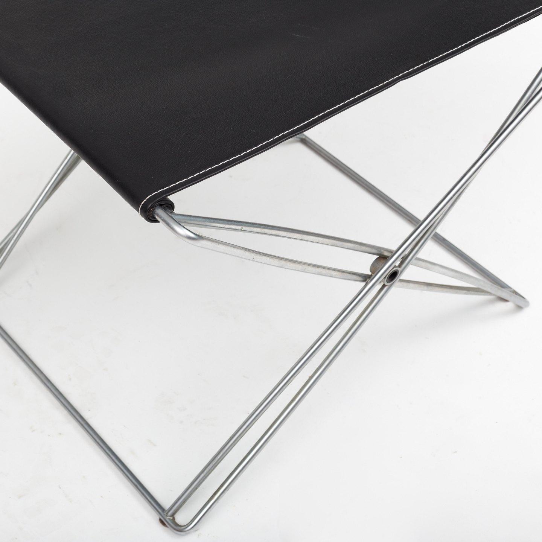 j rgen gammelgaard design forum foldetaburet i st l og sort l der 1 stk. Black Bedroom Furniture Sets. Home Design Ideas