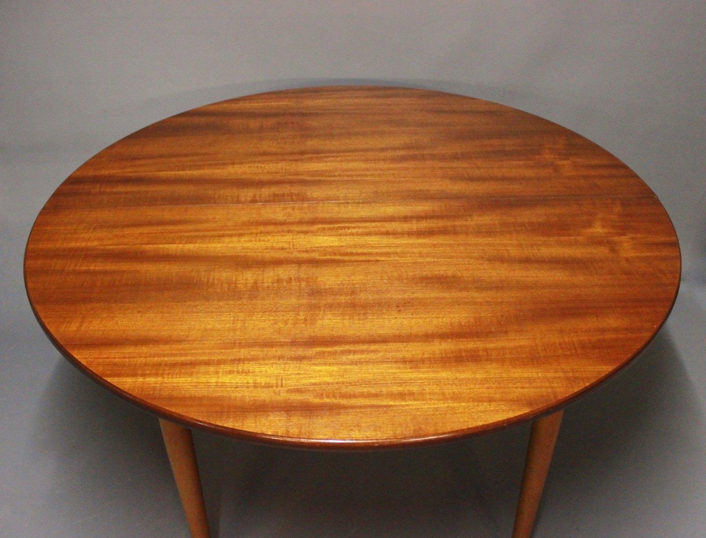 www.Antikvitet.net - Rundt spisebord med udtræk i teak og eg af Hans ...