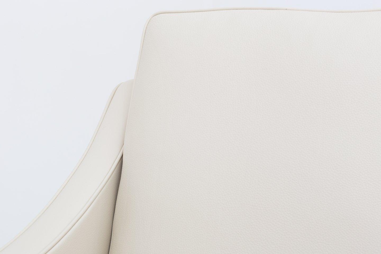 Børge Mogensen Fredericia Furniture BM 2207 Nybetrukket lænestol i cremefarvet Paris Cream læder med ben i mahogni. Vi tilbyder polstring af BM