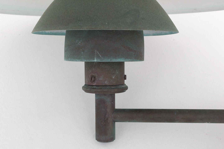 poul henningsen louis poulsen ph 45 udend rslampe i patineret kobber 1. Black Bedroom Furniture Sets. Home Design Ideas