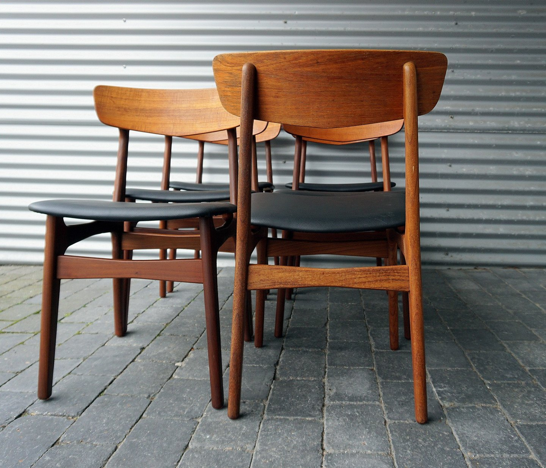 farstrup stole .Antikvitet.  6 stole teak Farstrup Møbelfabrik farstrup stole