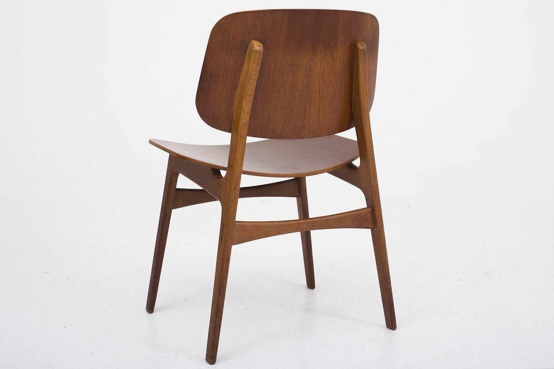 b rge mogensen s borg m belfabrik bm 155 skalstol i teak og stel i eg 4. Black Bedroom Furniture Sets. Home Design Ideas