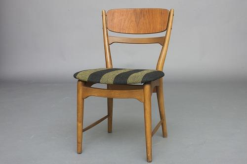 stol bøg .Antikvitet.  Stol. Dansk design. Bejdset bøg & teak. Pæn  stol bøg